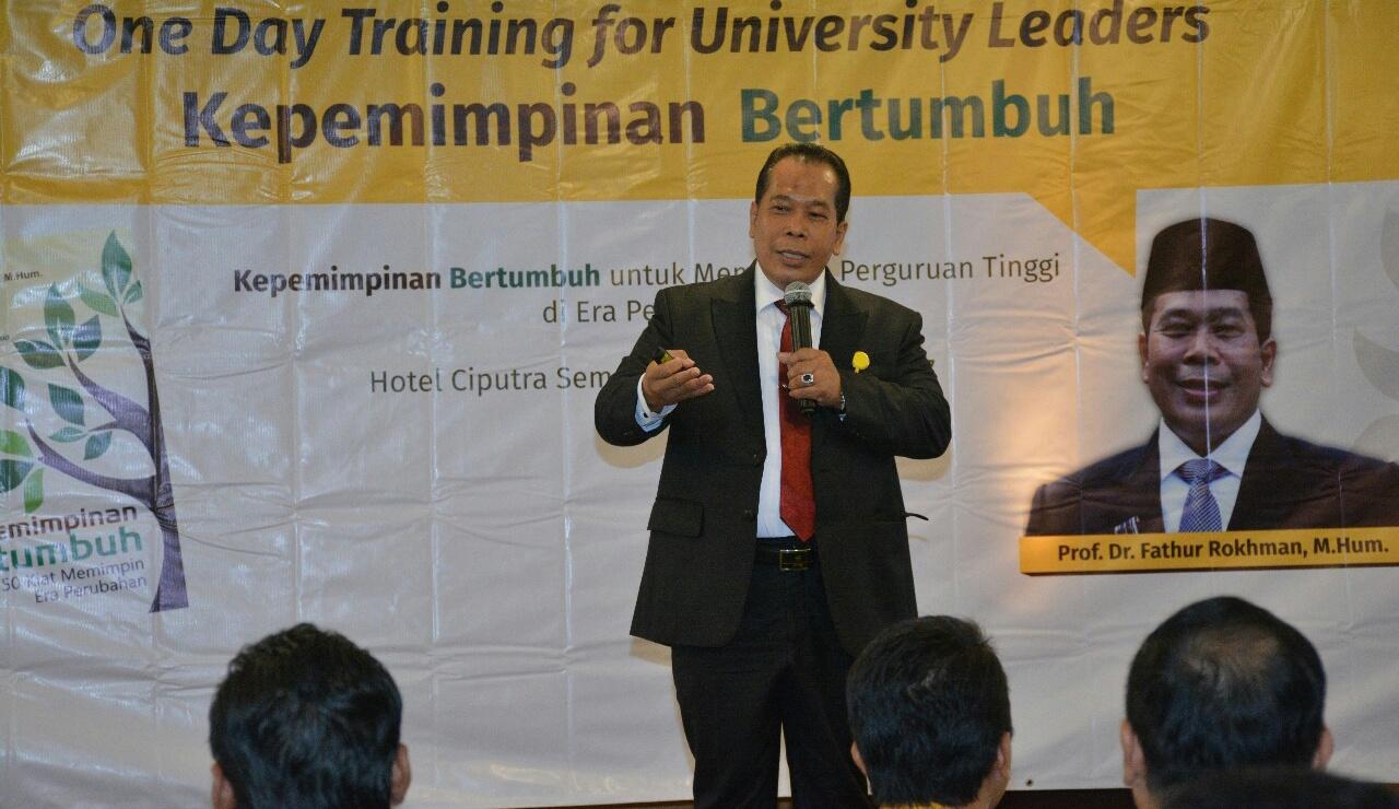 One Day Training, Inovasi UNNES Perkuat Kepemimpinan Bertumbuh
