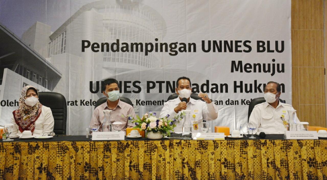 Tim Direktorat Kelembagaan Kemendikbud Dampingi UNNES Menuju PTNBH