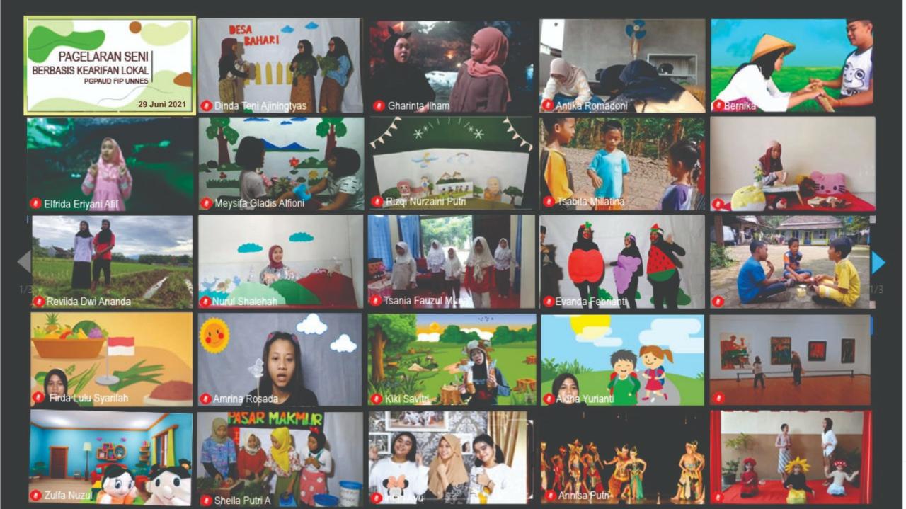 Lestarikan Budaya Konservasi, PGPAUD Selenggarakan Pagelaran Seni Kearifan Lokal
