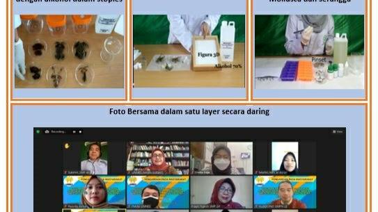 Tim Pengabdian Biologi UNNES Selenggarakan Pelatihan Pengembangan Media Pembelajaran Daring Pembuatan  Awetan Hewan bagi Guru IPA Biologi