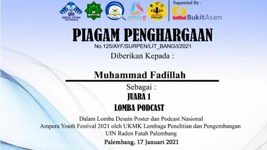 Mahasiswa FIS UNNES Juara 1 Nasional Lomba Podcast Ampera Youth Fest 2021