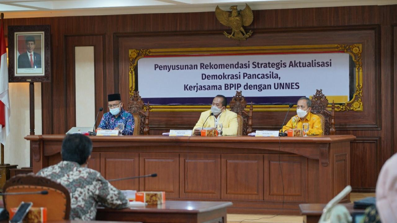 Sinergi Dengan BPIP RI, Prof Fathur: UNNES Memiliki Peran Startegis Mewujudkan Nilai Pancasila