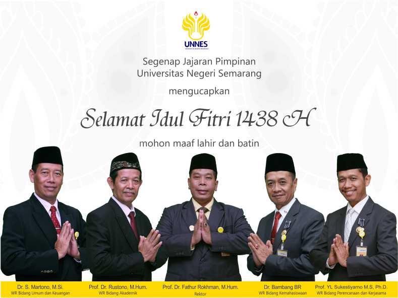 Rektor dan Jajaran Pimpinan Ucapkan Selamat Idul Fitri 1438H