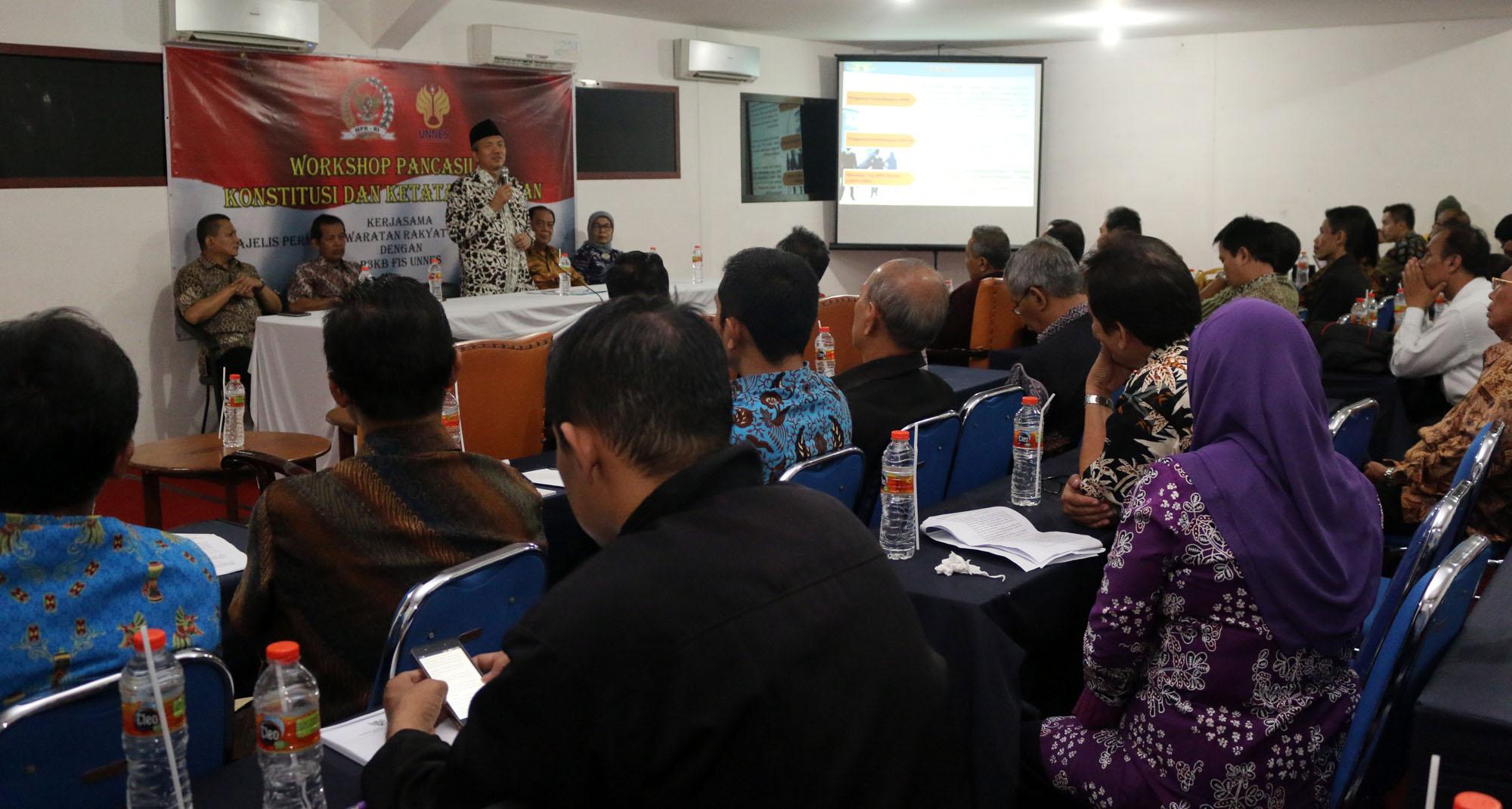 MPR RI Gandeng FIS Gelar Workshop Pancasila