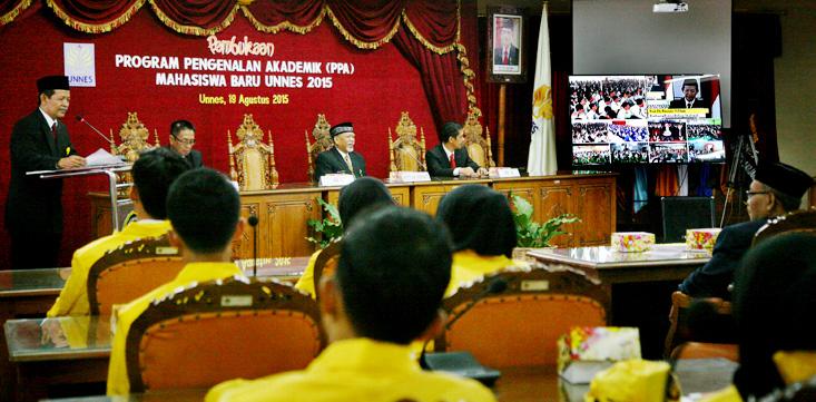 Dibuka Melalui Telekonferensi, PPA Diikuti 6.950 Mahasiswa Baru