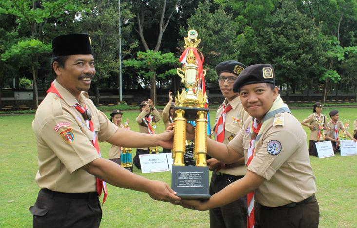UKM Pramuka UNNES Sukses Selenggarakan The 7th Senior Rover Scout Creativity, UNY Juara Umum