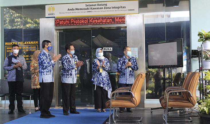 Launching Zona Integritas, FE UNNES Dukung Pemerintahan yang Bersih Dan Bebas KKN