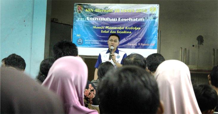 Mahasiswa KKN UNNES Beri Penyuluhan Narkoba di Kelurahan Krobokan