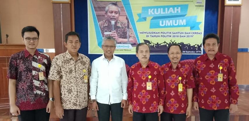 Jurusan PKn UNNES Gelar Kuliah Umum Bersama Ketua KPU Provinsi Jawa Tengah