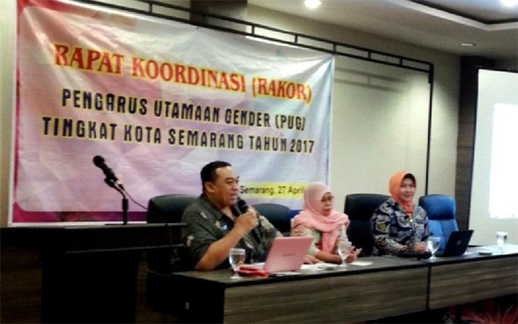 Rakor Pengarusutamaan Gender Tingkat Kota Semarang Tahun 2017 Gandeng PSGA LP2M UNNES