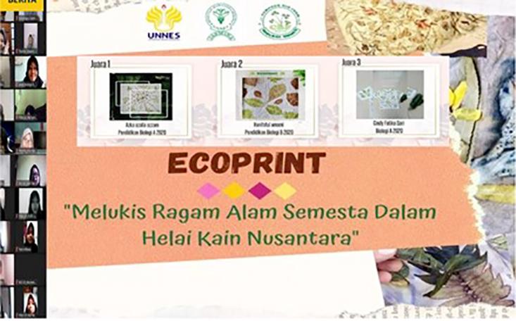CBF Jurusan Biologi UNNES, Selenggarakan Workshop Ecoprint