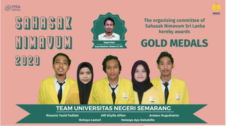 Delegasi Mahasiswa UNNES Raih Gold Medal