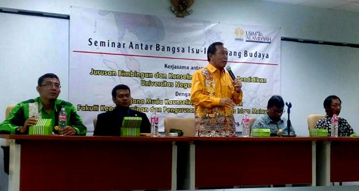Mahasiswa BK Universiti Sains Islam Malaysia mendalami Konseling Lintas Budaya di  Jurusan BK FIP UNNES