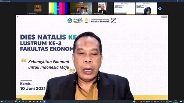 Dies Natalis ke 15 Lustrum 3 FE UNNES, Rektor Ajak Bersatu dan Bangkitkan Ekonomi Indonesia