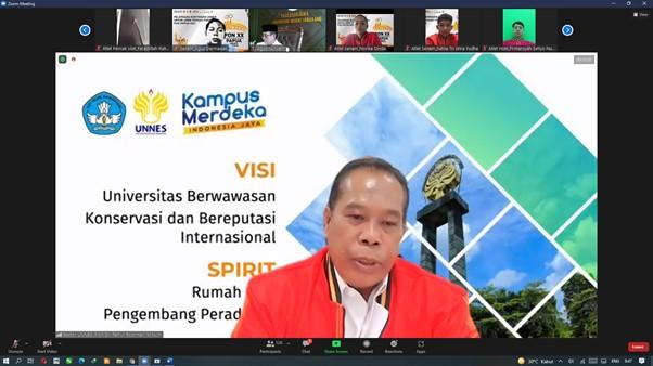 Rektor UNNES Lepaskan Kontingen UNNES Untuk Jawa Tengah ke PON XX Papu 2021