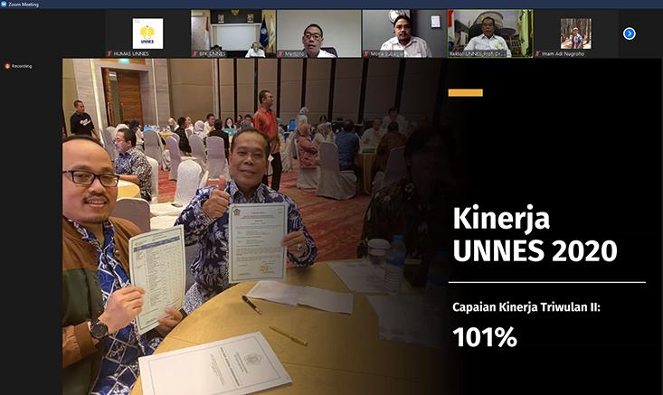 UNNES Selenggarakan Monev Triwulan II 2020 secara Daring, FT Juara Umum