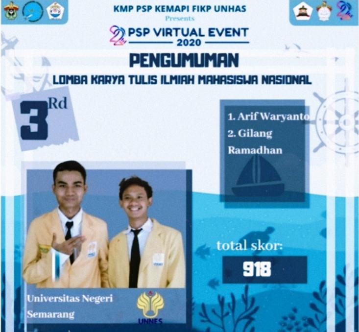 Kolaborasi Mahasiswa FMIPA dan FT Raih Juara 3 LKTN