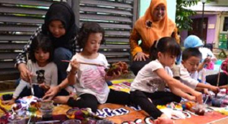 TK Labschool Universitas Negeri Semarang Belajar Membatik