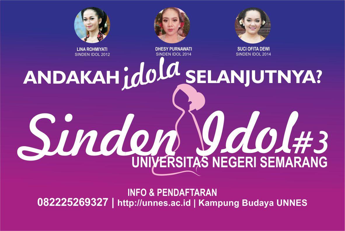 Pendaftaran Audisi Sinden Idol 3 UNNES Dibuka