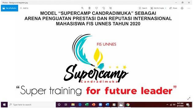 SUPERCAMP Training FIS UNNES 2020: Membina Mahasiswa Berjiwa kompetitif