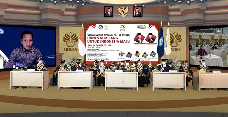 56 Tahun, UNNES Gemilang Untuk Indonesia Maju.