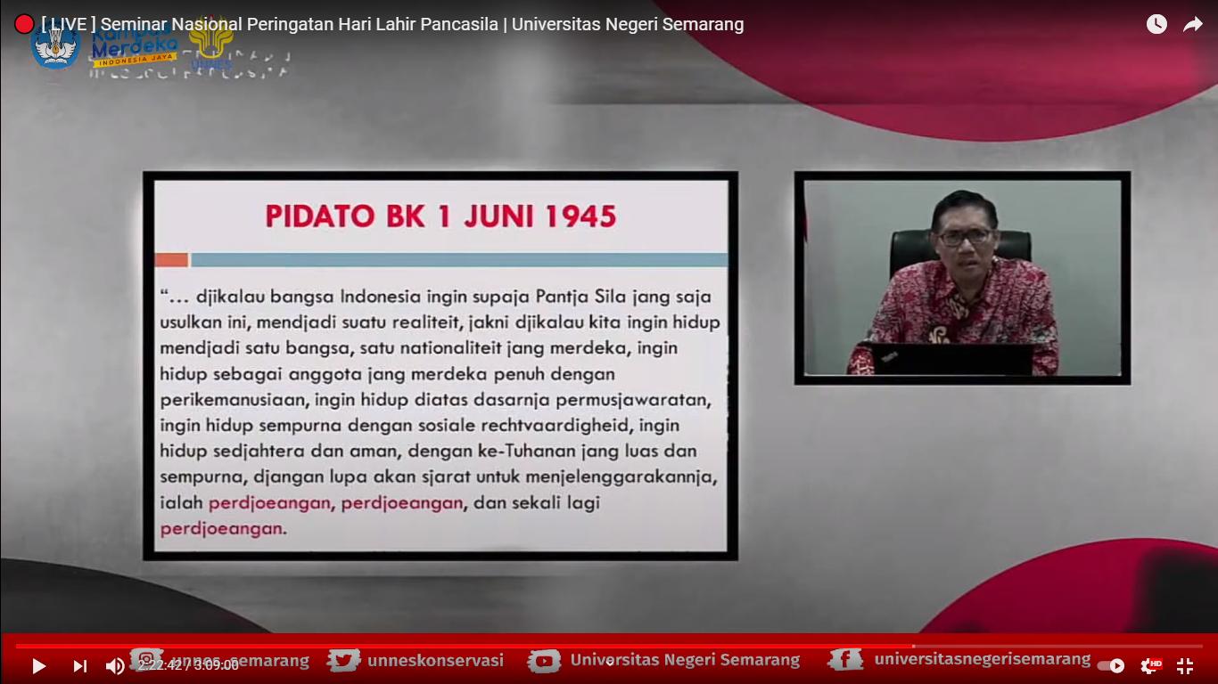 Peringati Hari Lahir Pancasila, Wakil Ketua BPIP Tekankan Pancasila sebagai Leitstaryang Dinamis