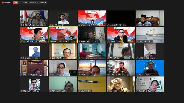 Fakultas Ilmu Sosial UNNES Selenggarakan Webinar Pancasila