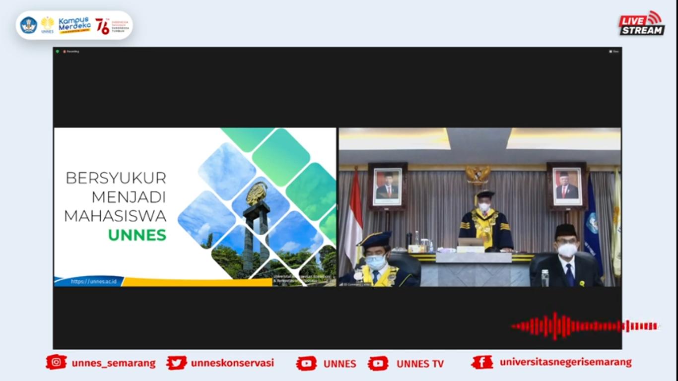 Buka PKKMB 2021, Rektor UNNES Tekankan Pentingnya Prestasi dan Karakter Mahasiswa