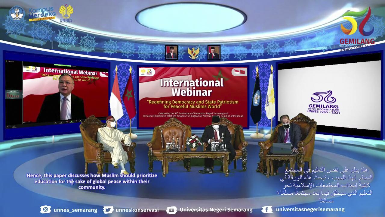 Sepirit Maroko Bekerja Sama Dengan Indonesia Untuk Mencapai Perdamaian Dunia