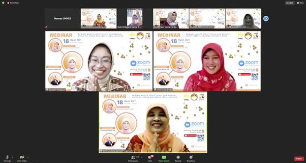 Webinar DWP UNNES, Menjadi Wanita Sehat, Ceria, dan Mandiri untuk Keluarga yang Gemilang