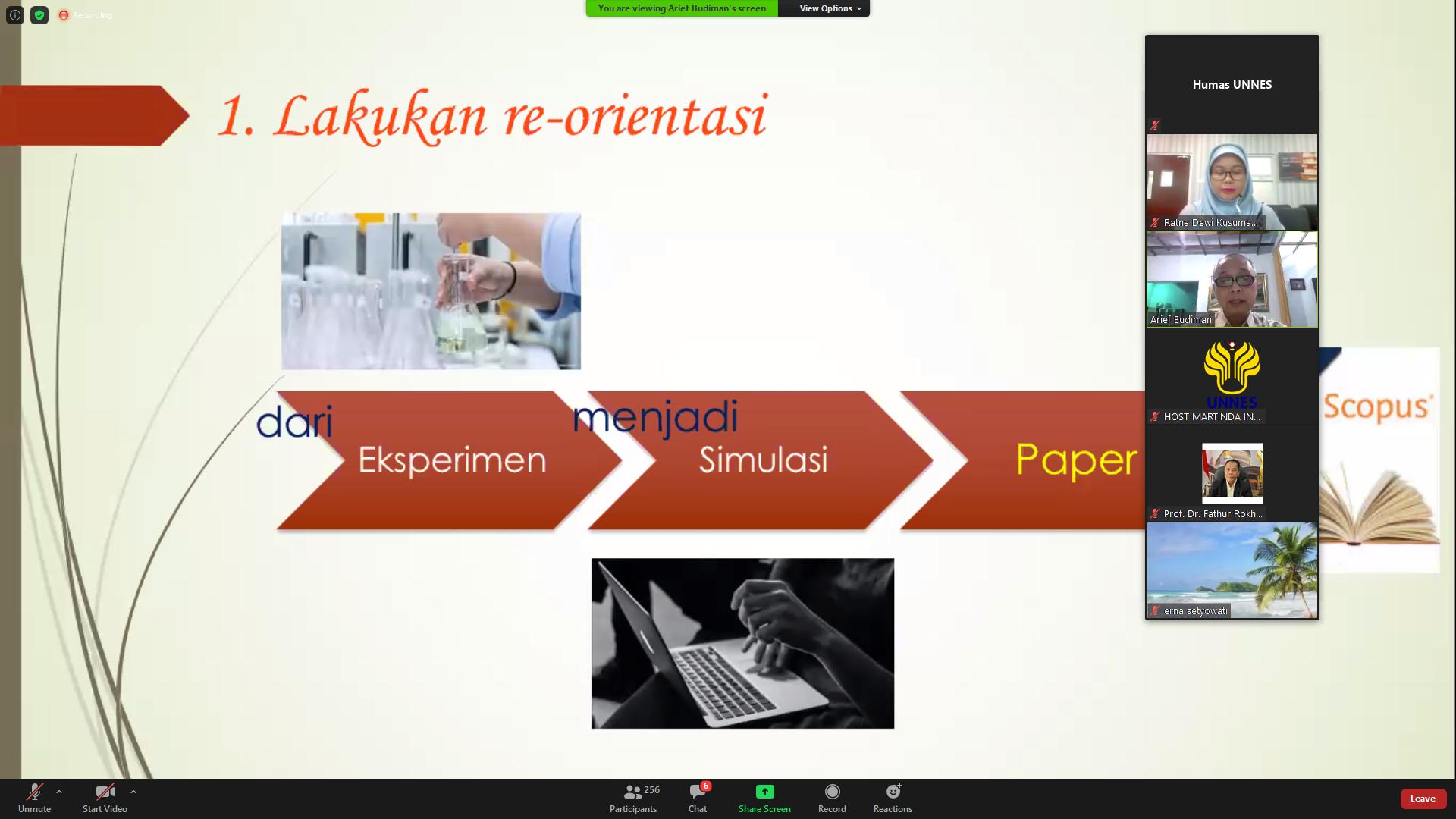 Webinar LP2M UNNES Strategi Pelaksanaan Penelitian di Masa Pandemi Covid-19