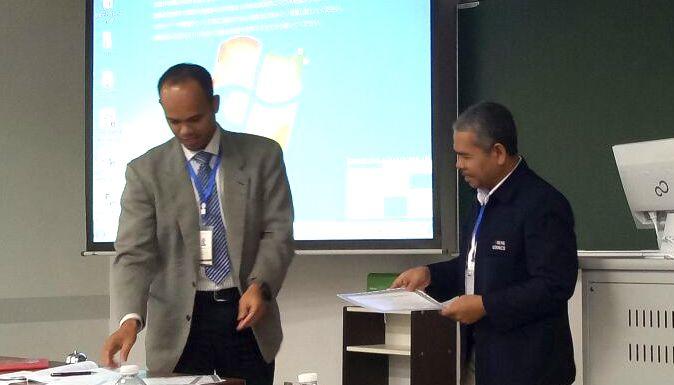 Dua Dosen UNNES Presentasi di Kokushikan University Jepang