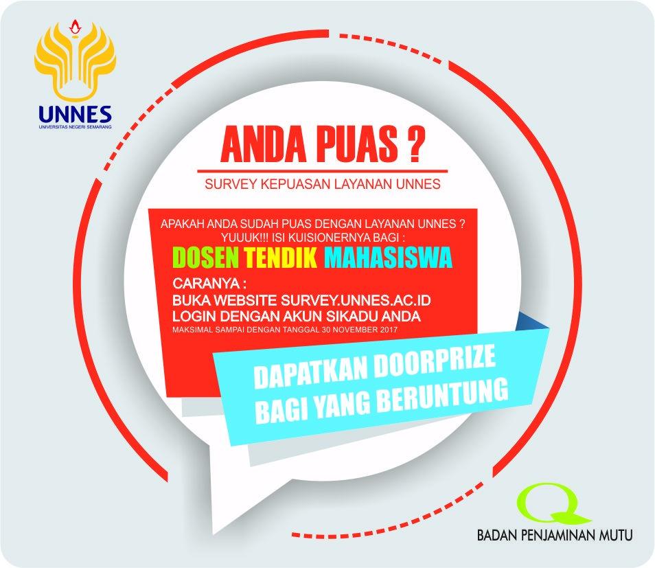 Survey Layanan UNNES Berhadiah Doorprize dari Badan Penjaminan Mutu UNNES