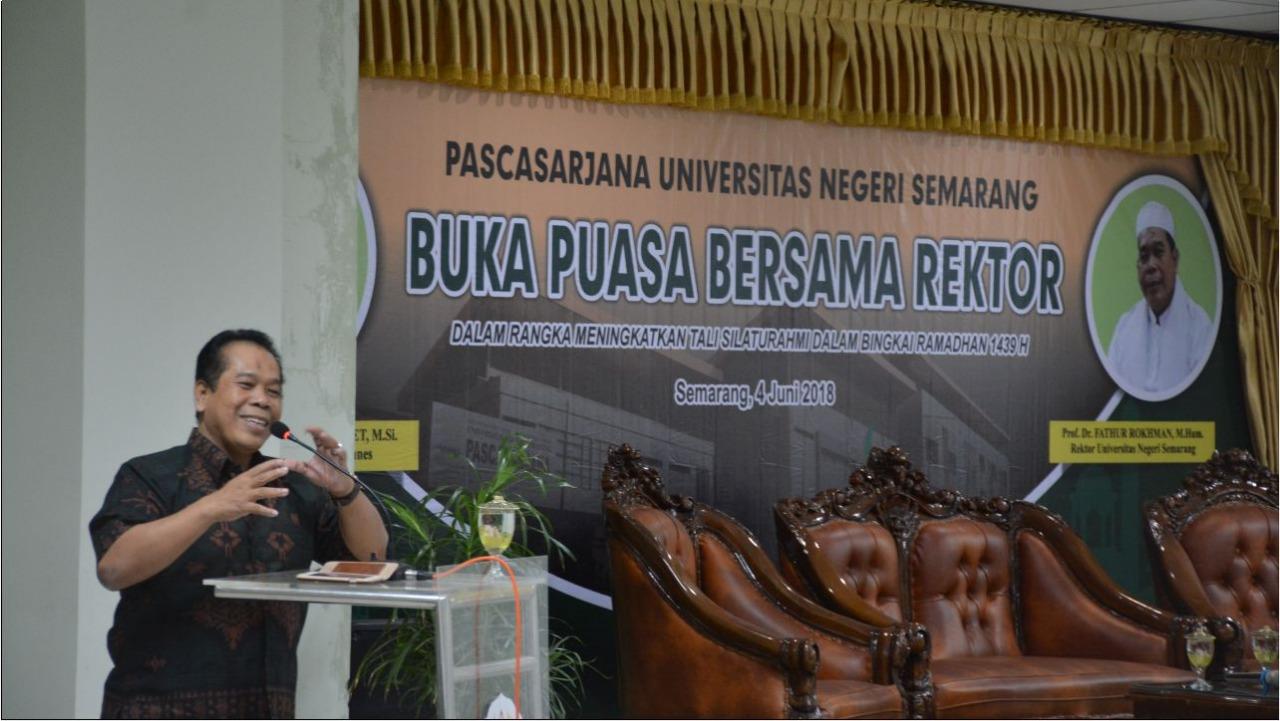 Buka Puasa Bersama di PPs, Rektor Imbau Hindari Gesekan Sosial