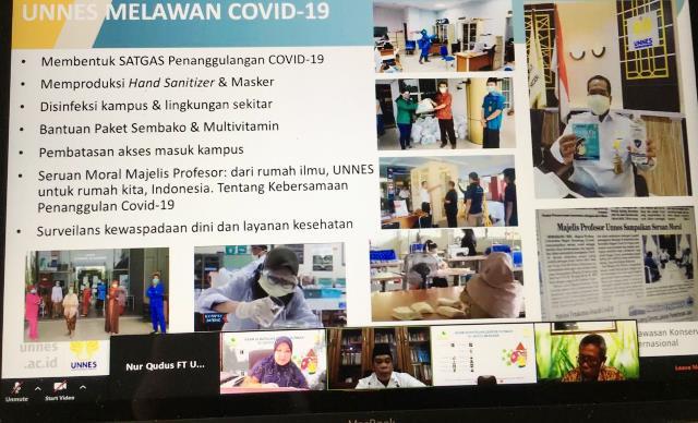 Webinar UI GreenMetric, Rektor UNNES Paparkan Kampus Konservasi Berkelanjutan Masa Pandemi Covid-19