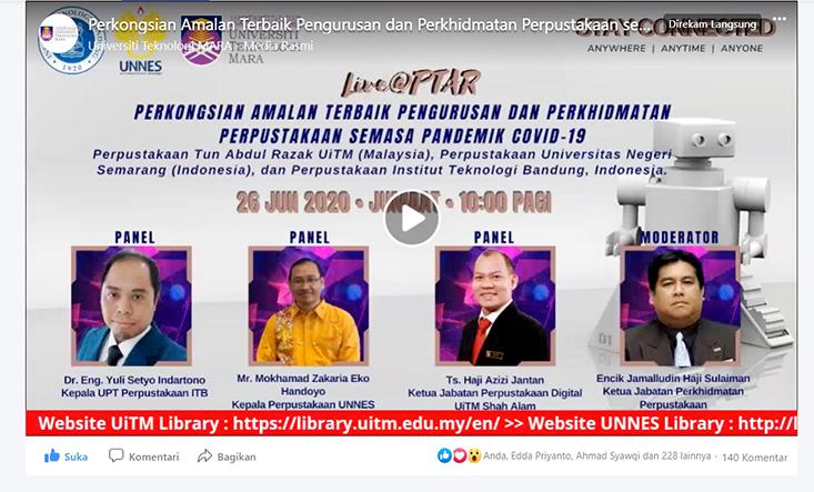 TETAP KREATIF DI TENGAH PANDEMIK: Upaya Perpustakaan Universitas Negeri Semarang untuk Mendunia