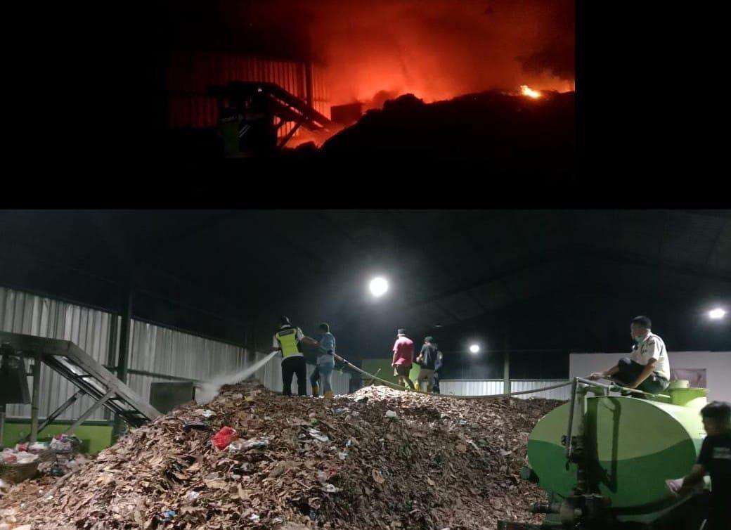 Kesigapan SATPAM, Kebakaran di TPS UNNES Berhasil Dipadamkan
