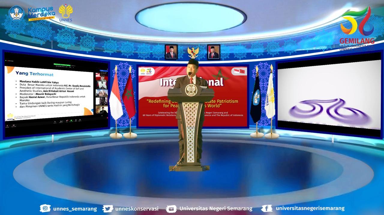 Internasional Webinar, Rektor UNNES Sampaikan Peran Strategis Indonesia Membangun Persahabatan International