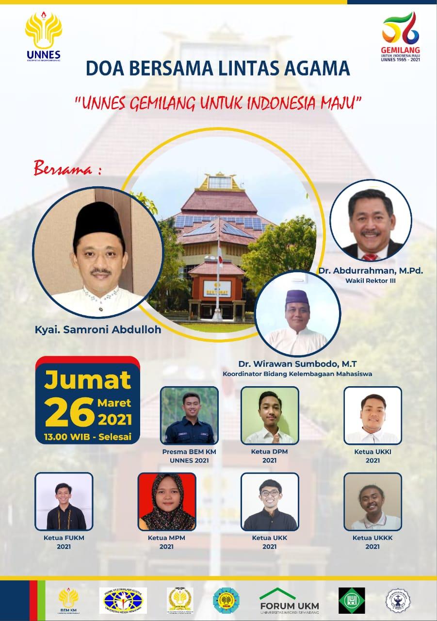 Forum UKM UNNES Menyelenggarakan Doa Bersama Lintas Agama