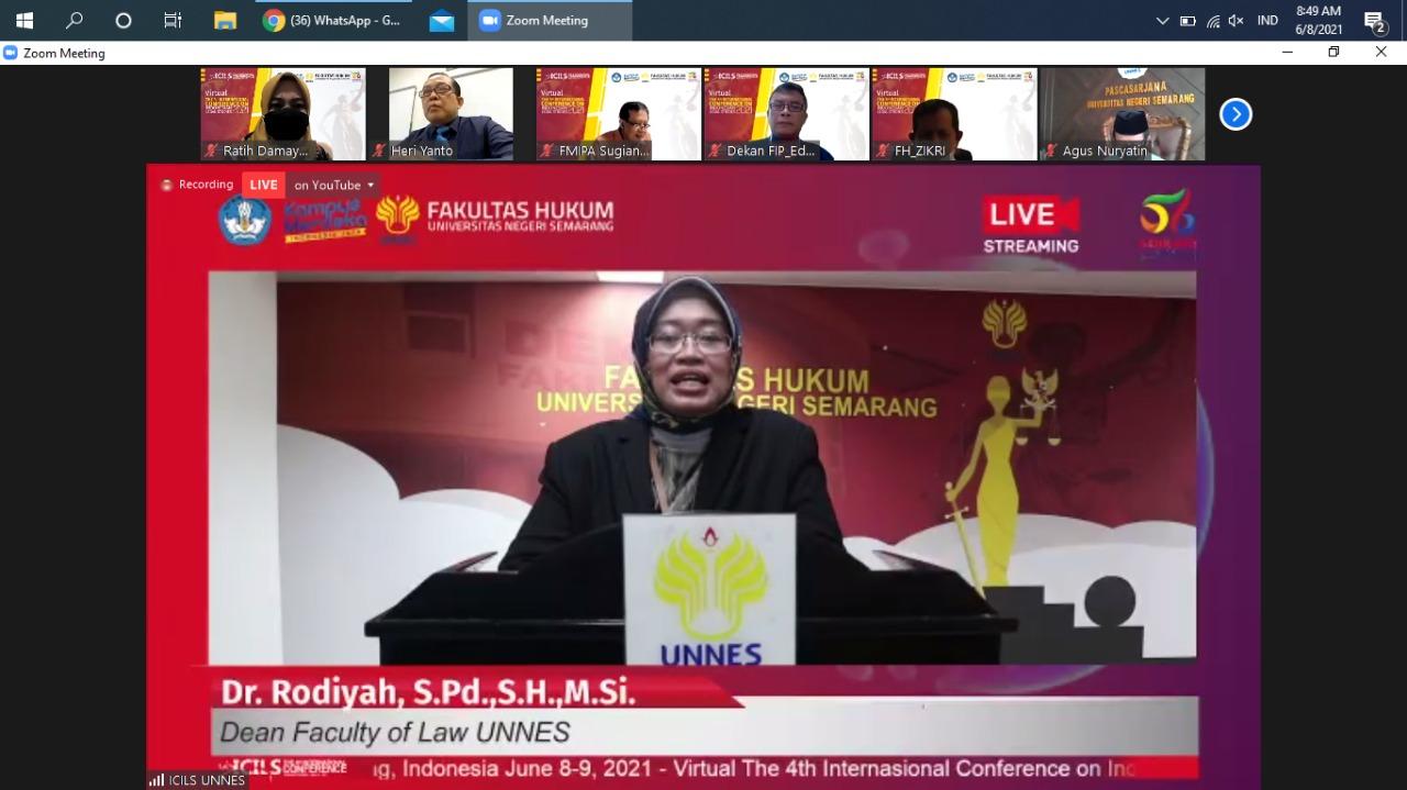 FH UNNES Sukses Selenggarakan Konferensi Internasional The 4th ICILS