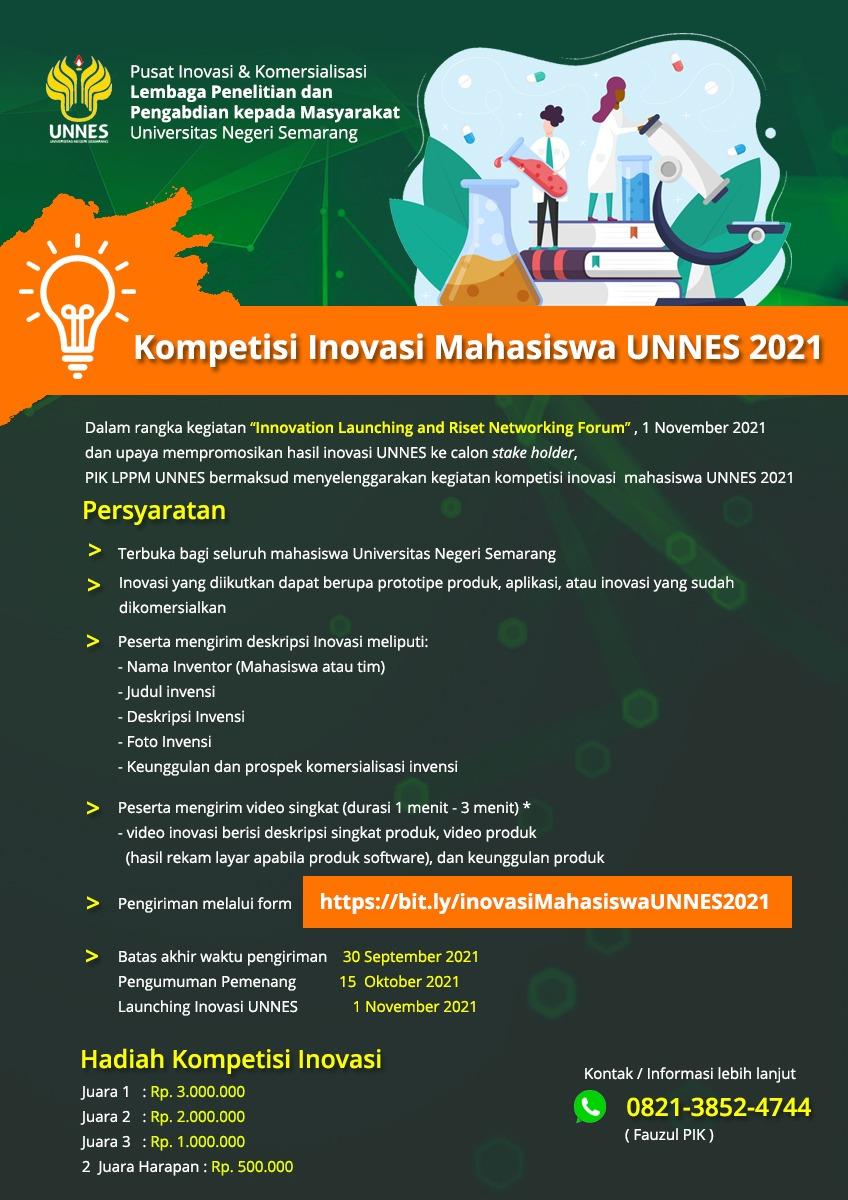 Kompetisi Inovasi Mahasiswa UNNES 2021