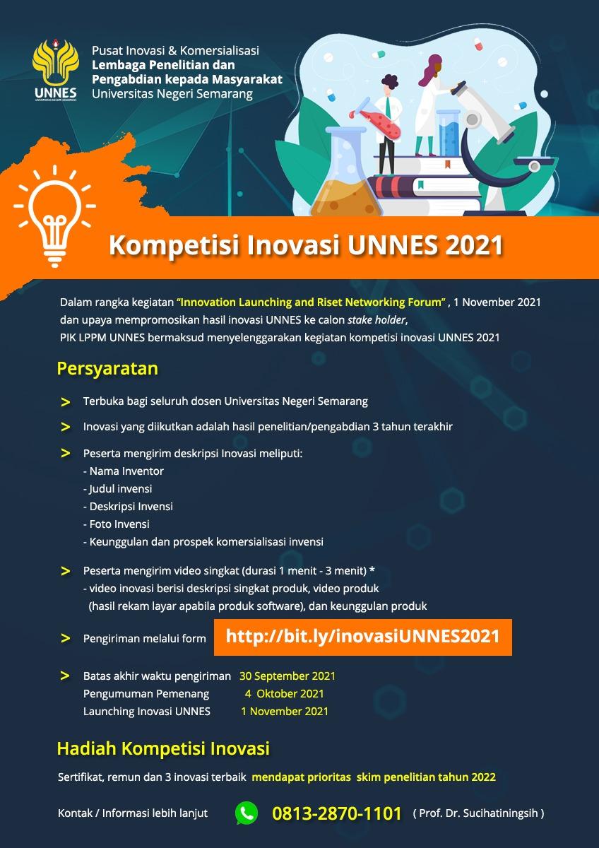 Kompetisi Inovasi Dosen UNNES 2021