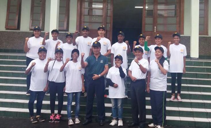 Bersama Mahasiswa dari Papua, BEM UNNES Ikuti Bela Negara