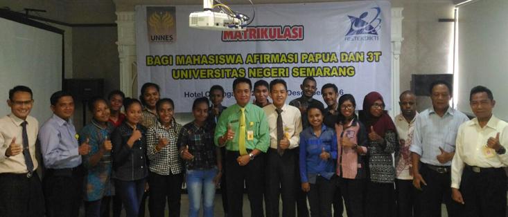 UNNES Berikan Pembekalan Kepada Mahasiswa Afirmasi Papua dan Daerah 3T