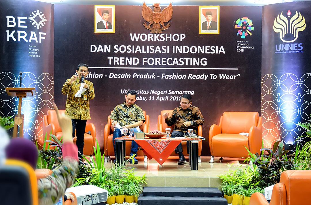 Dorong Kreativitas Mahasiswa, Bekraf Adakan Workshop dan Sosialisasi Indonesia Trend Forecasting