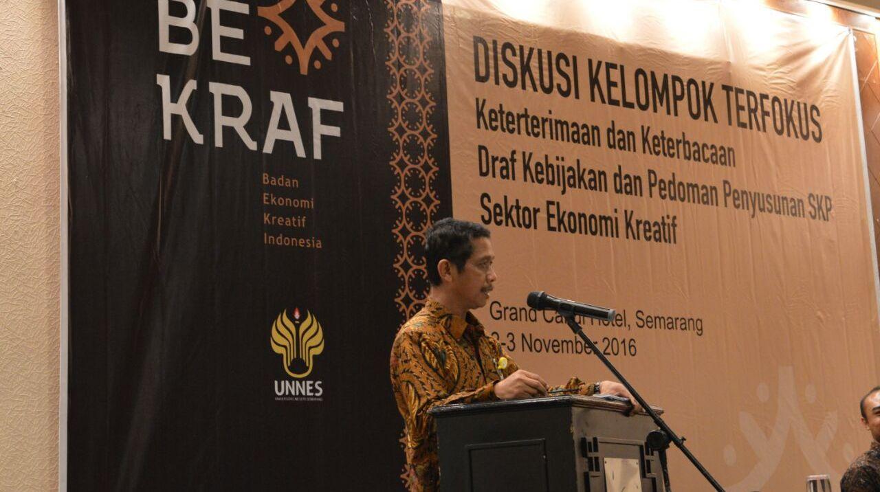 Diskusi Kelompok Terfokus, Penguat Kerja Sama UNNES-Bekraf RI
