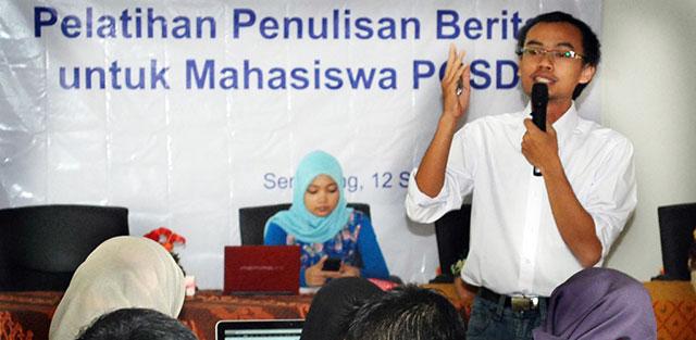 Calon Guru SD Perdalam Ilmu Jurnalistik