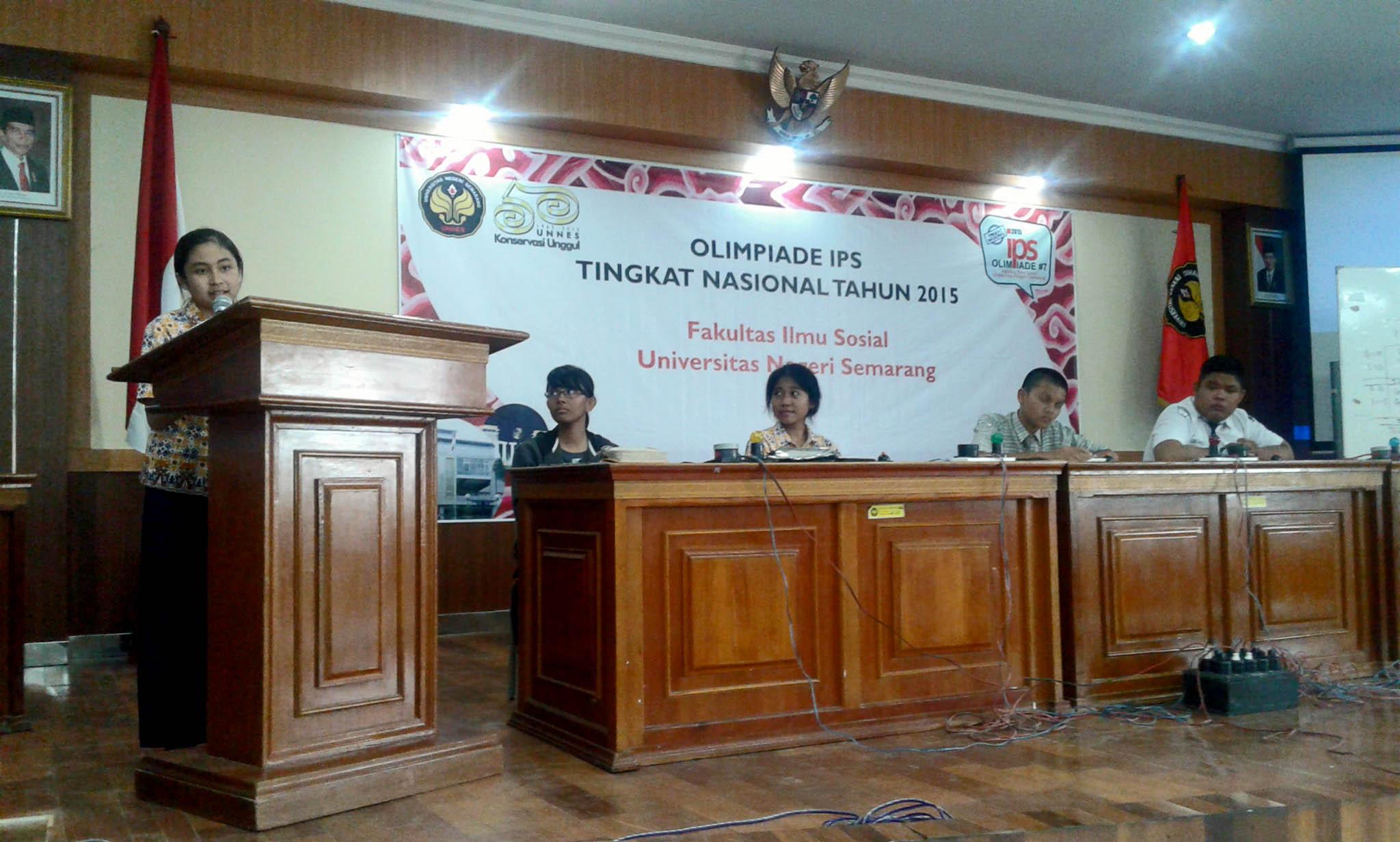 SMP 2 Semarang Rebut Dua Juara pada Olimpiade IPS 2015