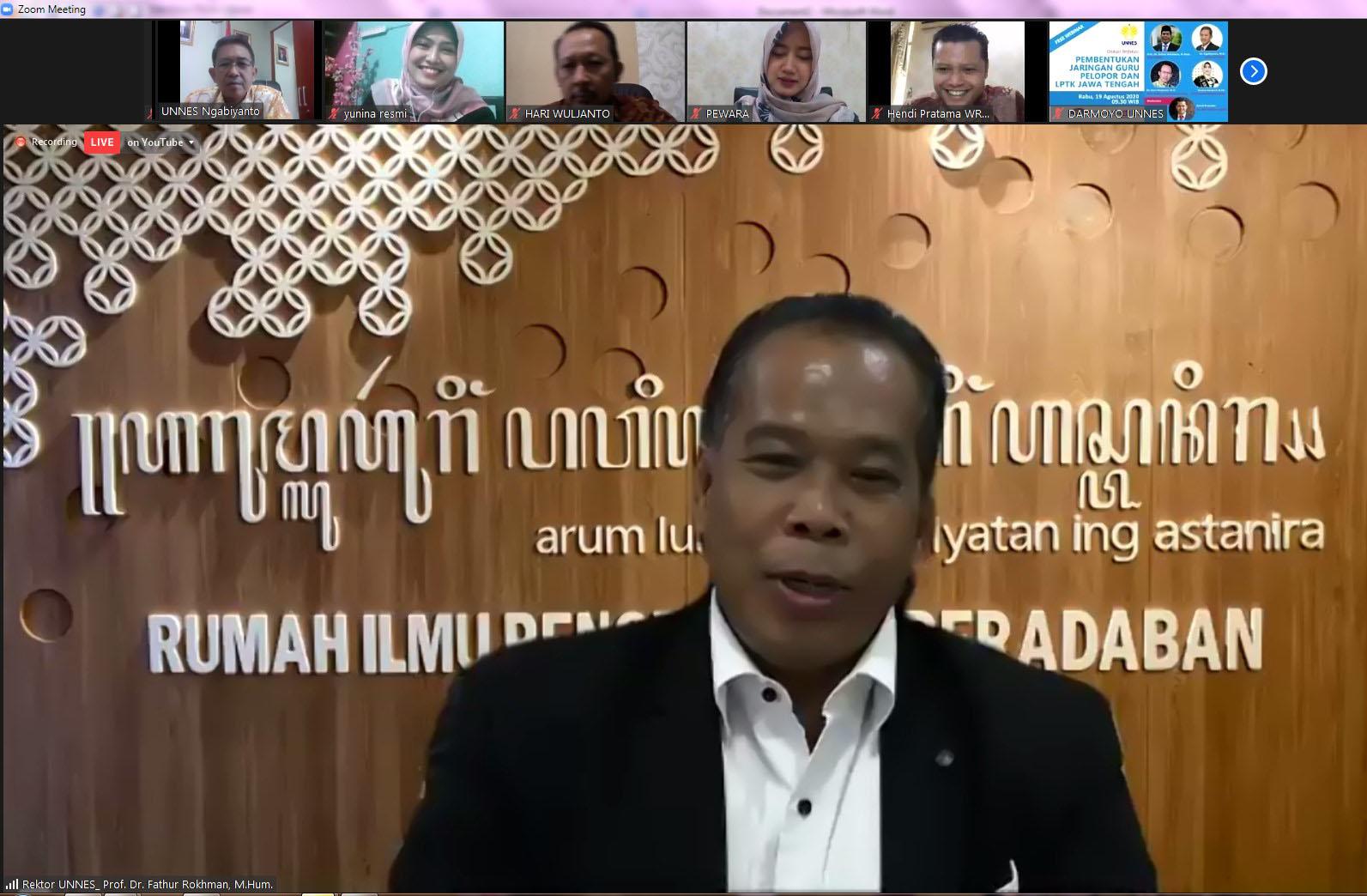 Merdeka Belajar, UNNES Bentuk Jaringan Guru Pelopor dan LPTK Jawa Tengah