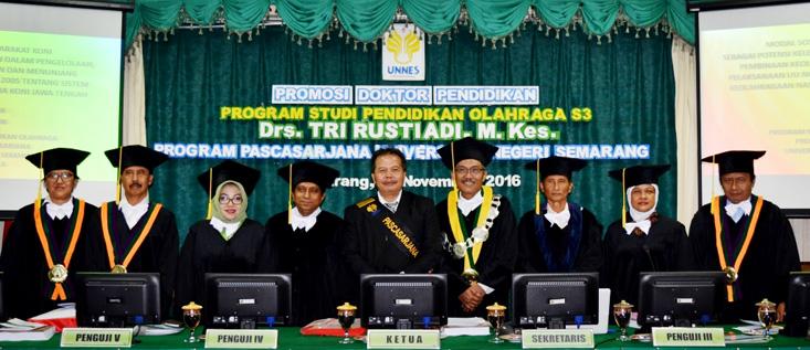 Tri Rustiadi Raih Doktor